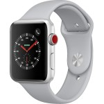 Apple Watch 3 LTE 42mm Sportarmband Silver