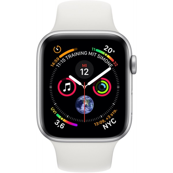 Apple Watch Series 4 Aluminium Silver/White Sportband 44mm