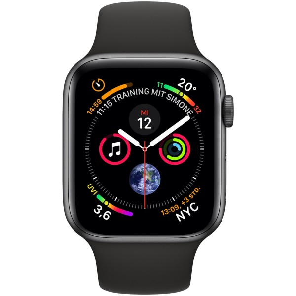Apple Watch Series 4 LTE Grey Alu Black Band 44mm