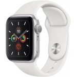 Apple Watch Series 5 GPS 44mm Alu Case Silver White Sport Band