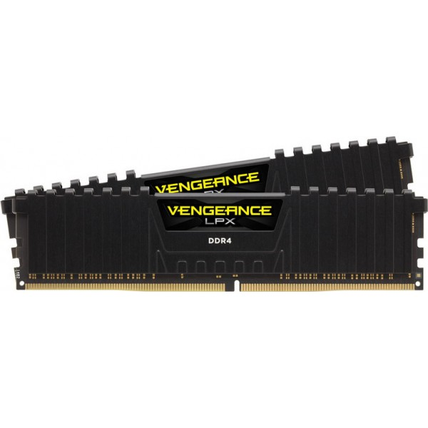 Corsair 16GB DDR4-2666 DIMM Kit, Memory (Black, Vengeance LPX)